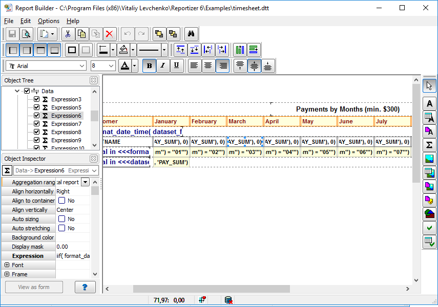 Reportizer is a database reporting tool