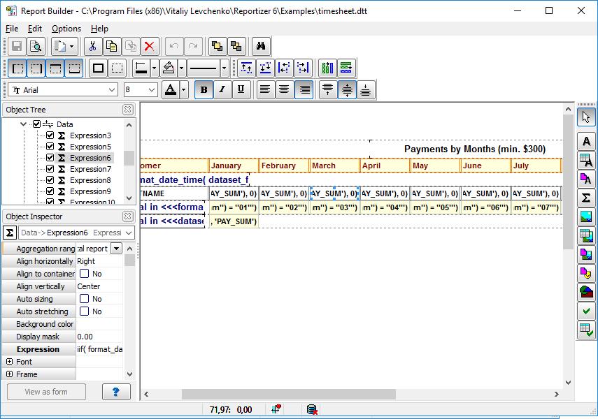 Database Reporting Tool - Reportizer